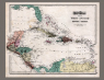 Gray's Atlas map of West Indies and Central America