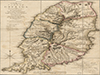 A new plan of the island of Grenada, from the original French survey of Monsieur Pinel; taken in 1763 by order of government, and now published with the addition of English names, alterations of property, and other improvements to the present year 1780